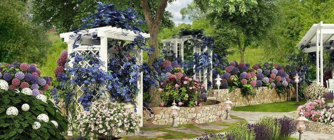 Стили оформления сада