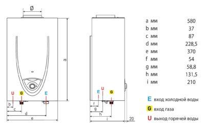 Газовые водонагреватели и газовые колоноки фирм: Ariston, Bradford White, Electrolux
