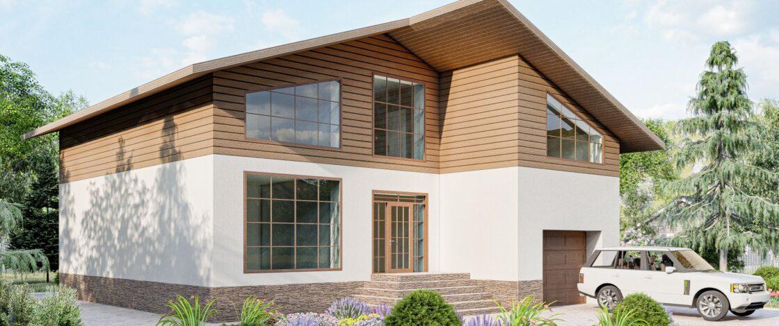 Двухэтажный шестикомнатный дом