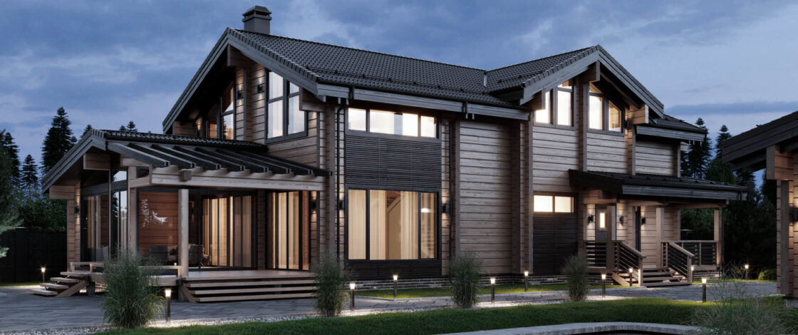 Двухэтажный дом повышенной комфортности