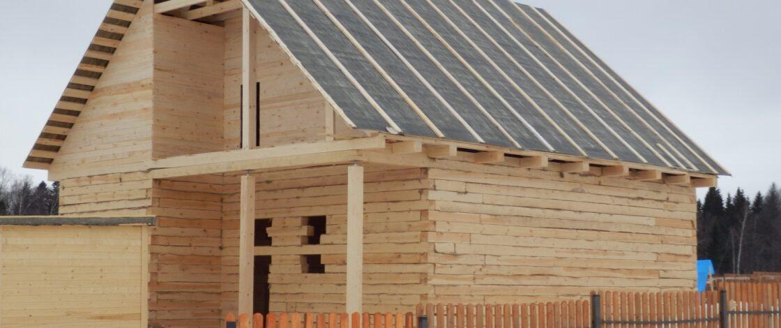 Крыша бани из рубероида