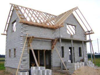 Фундамент, стены, крыши